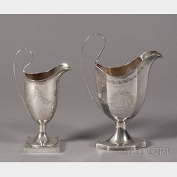 Two Silver Creamers