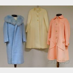 Three Lady's Wool Coats