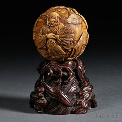 Carved Ivory Ball