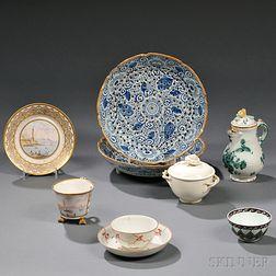 Seven Pieces of Ceramic Tableware
