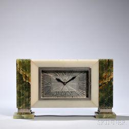 ATO Art Deco Onys Mantel Clock