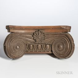 Carved Ionic Pilaster Capital