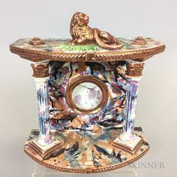Staffordshire Lustre-decorated Ceramic Watch Hutch