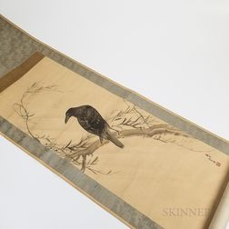 Hanging Scroll Depicting a Crow.     Estimate $100-200