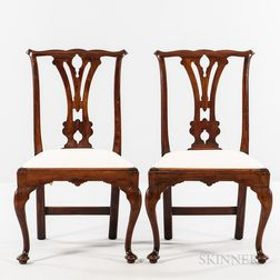 Pair of Chippendale Cedar Side Chairs