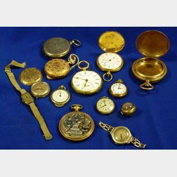 Group of Watches and Watch Parts