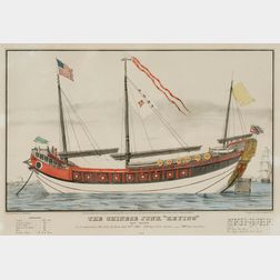 """N. Currier, publisher (American, 1838-1856)      THE CHINESE JUNK """"KEYING.,"""""""