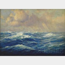 Attributed to C. Myron Clark  (American, 1858-1925)      Seascape.