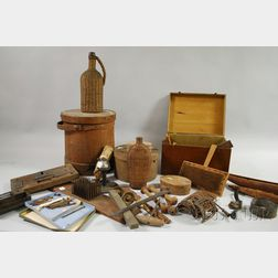 Lot of Mostly 19th Century Wooden, Metal, and Collectible Items