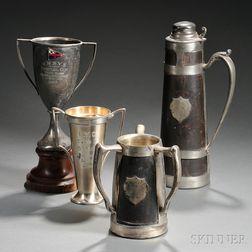 Four Yacht Club Trophies