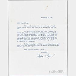 Agnew, Spiro (1918-1996) Typed Letter Signed, November 30, 1973.