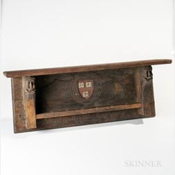 Carved and Paint-decorated Harvard College Shelf