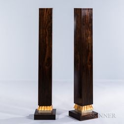 Two Rosewood Pedestals