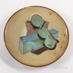 Chris Gustin (American, b. 1952) Studio Pottery Charger