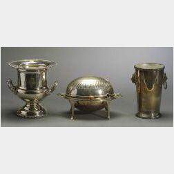 Three Silverplate Tablewares