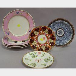 Seven Pieces of Worcester Porcelain Tableware