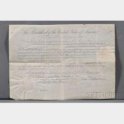 Tyler, John (1790-1862) Signed Document.