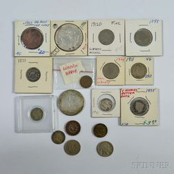 Group of Mostly U.S. Coins