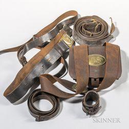 Group of Civil War-era Leather Equipment