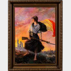 Frank Robert Harper (American, 1876-1948)      Defender of Her Homeland