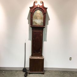 English Inlaid Mahogany Tall Case Clock