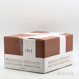 Pieve Santa Restituta (Gaja) Brunello di Montalcino 2012, 6 bottles (oc)