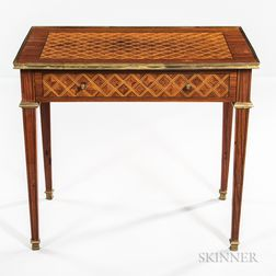 Louis XVI-style Mahogany and Marquetry Center Table