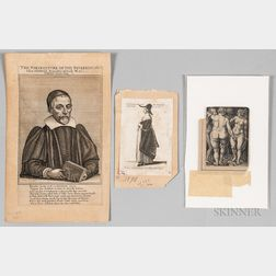 Three Unframed German Engravings:      Wenceslaus Hollar (Bohemian, 1607-1677), Portrait of Rev. John Diodati (1643)
