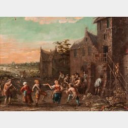 Dutch School, 17th Century      Merry Company Outside an Inn