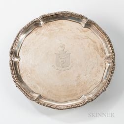 Georgian Sterling Silver Footed Salver