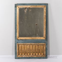 Period Louis XVI Painted and Gilded Mirror