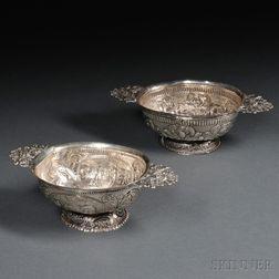 Two Dutch .934 Silver Bowls