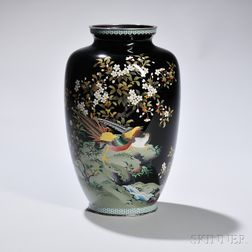 "Cloisonne Vase Marked ""Ando Jubei,"""