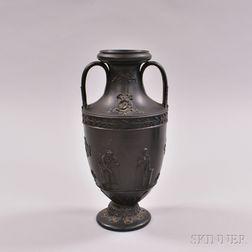 Wedgwood Black Basalt Trophy Vase