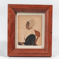 American School, Mid-19th Century      Miniature Portrait of a Black Woman