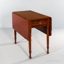 Red-painted Drop-leaf Table