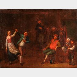 Flemish School, 17th Century      Couple Dancing in a Tavern