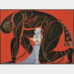 Romain de Tirtoff, called Erté (Russian, 1892-1990)      Sampson and Delilah