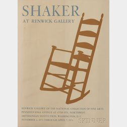 """""""Shaker at Renwick Gallery"""" Exhibition Poster"""