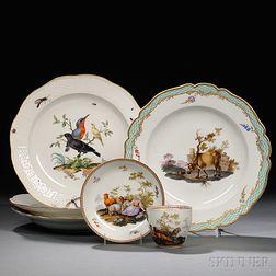Five Pieces of Meissen Porcelain