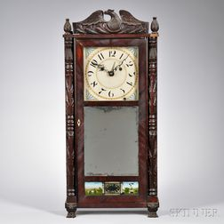 Silas Hoadley Carved Shelf Clock