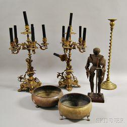Six Decorative Metal Items