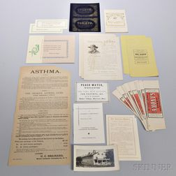 Group of Shaker Ephemera Including Broadsides, Labels, etc.