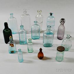 Fifteen Glass Bottles