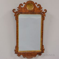 Queen Anne Shell-carved Walnut Scroll-frame Mirror