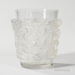 Contemporary Lalique Satyr Vase