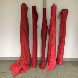 Five Bolts of Red Fabric