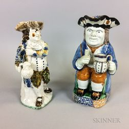 Two Staffordshire Ceramic Toby Jugs