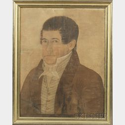 Attributed to Mr. Willson (Probably New Hampshire, 19th Century)    Portrait of a Gentleman.