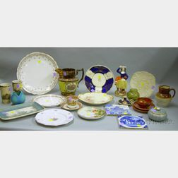 Group of Assorted Decorated Pottery and Porcelain
